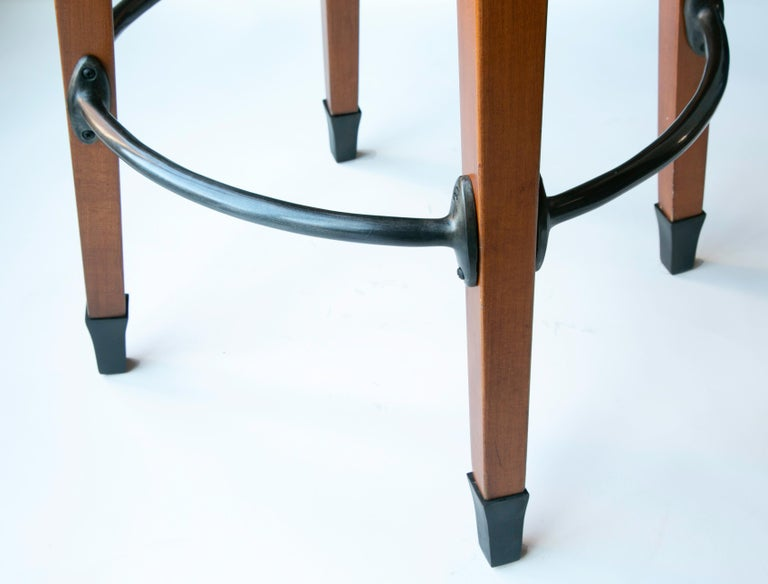 Late 20th Century Barney's Stools in Clear Maple, Cast Aluminum and Mohair, Jordan Mozer USA, 1992 For Sale