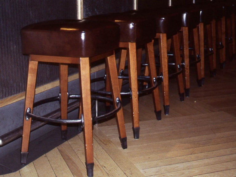 Barney's Stools in Clear Maple, Cast Aluminum and Mohair, Jordan Mozer USA, 1992 For Sale 4