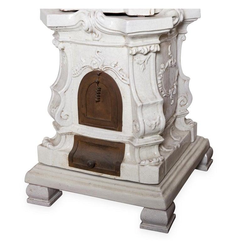 Modern Barocca Veneta Small Ceramic Stove by Manetti e Masini For Sale