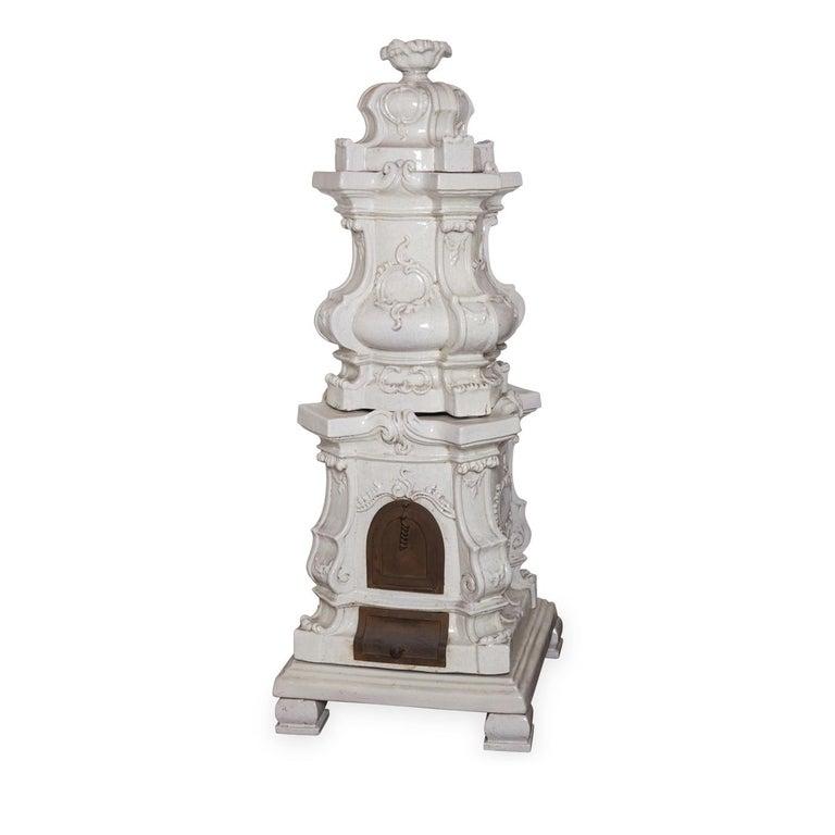 Italian Barocca Veneta Small Ceramic Stove by Manetti e Masini For Sale