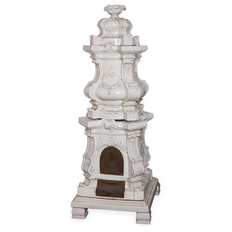 Barocca Veneta Small Ceramic Stove by Manetti e Masini For Sale
