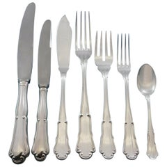 Barocco by Zaramella Argenti Italy 800 Silver Flatware Set Dinner 113 Pieces