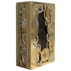 Baron Luxury Safe in Brass with Silver Detail