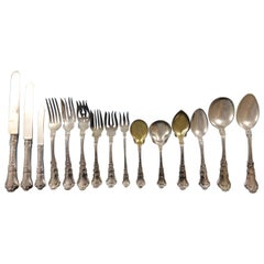 Baronial Old by Gorham Sterling Silver Flatware Set 12 Service, 144 Pieces