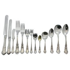 Baronial Old by Gorham Sterling Silver Flatware Set Service 507 Pcs Lion Dinner