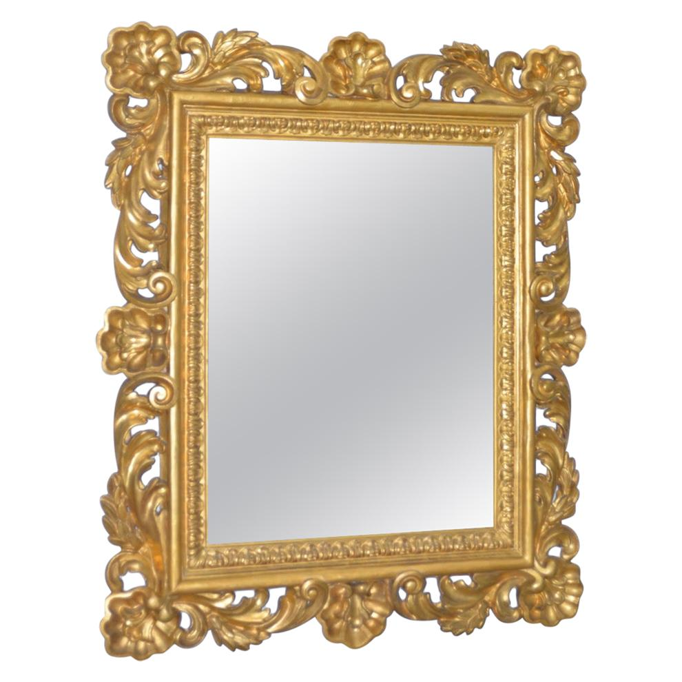 Baroque 19th Century Monumental Hand Carved & Gilded Mirror