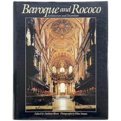 Baroque and Rococo Architecture and Decoration Great Large Heavy Art Table Book