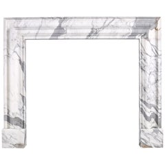 Baroque Bolection Fireplace Surround Italian White Statuary Marble Fireplace 6
