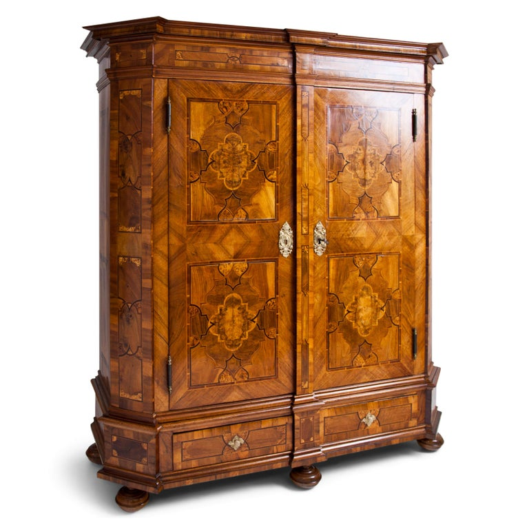 European Baroque Cabinet, 18th Century For Sale