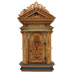 Baroque Cabinet in Gold Color Painted Germany Early 19th Century