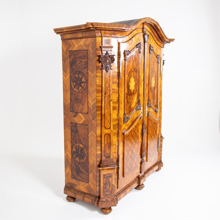 German Baroque Cabinet, Munich, Dated 1781 For Sale