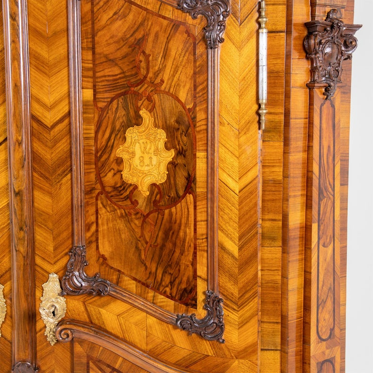 18th Century and Earlier Baroque Cabinet, Munich, Dated 1781 For Sale