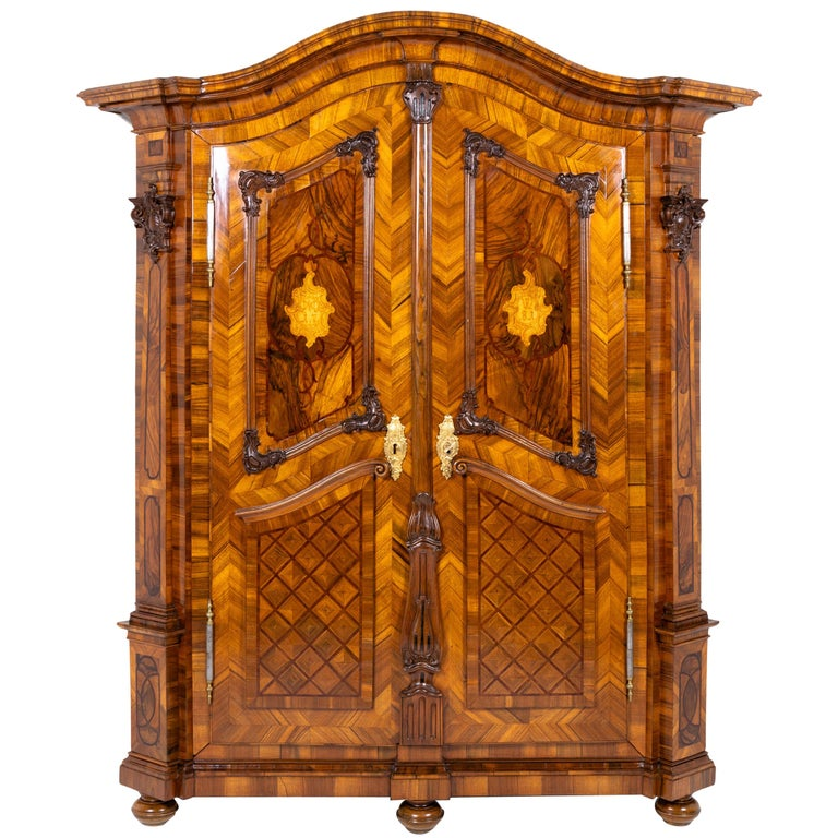 Baroque Cabinet, Munich, Dated 1781 For Sale