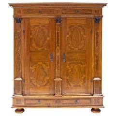 Baroque Cabinet, Salzburg Dated 1727