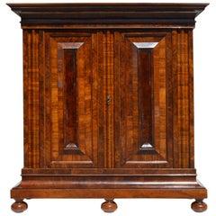 """Baroque Cabinet, So-Called """"Wellenschrank"""", Frankfurt, Germany, 1730"""