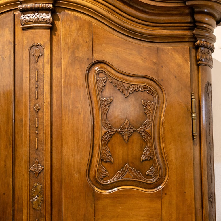 Baroque Cabinet, Solid Walnut, Central Germany, Dated 1776 In Good Condition For Sale In Greding, DE