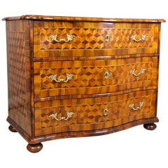 Baroque Chest of Drawers Marquetry 18th Century, Austria, circa 1760