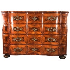 Baroque Chest of Drawers, Southern Germany 1750, Walnut