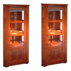 Baroque Corner Display Cabinets