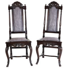 Baroque Dining Room Chairs, Saxony / Germany, 18th Century