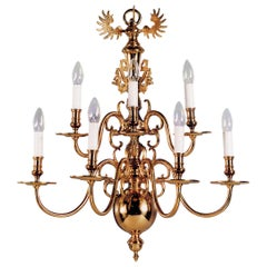 Baroque Dutch Style Gilt Bronze Wall Sconce by Gherardo Degli Albizzi