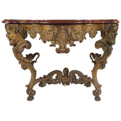 Baroque Giltwood Console
