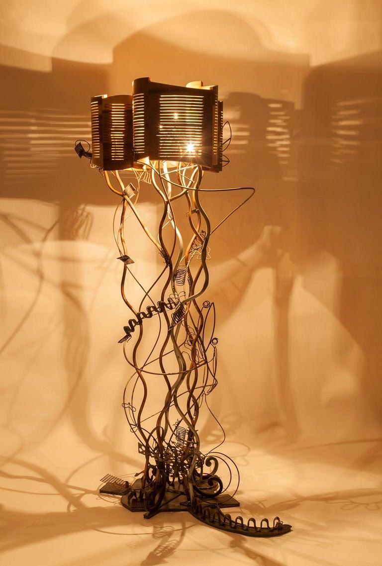 Brutalist Baroque Grunge Garden Floor Lamp by Aswoon/Susan Woods For Sale