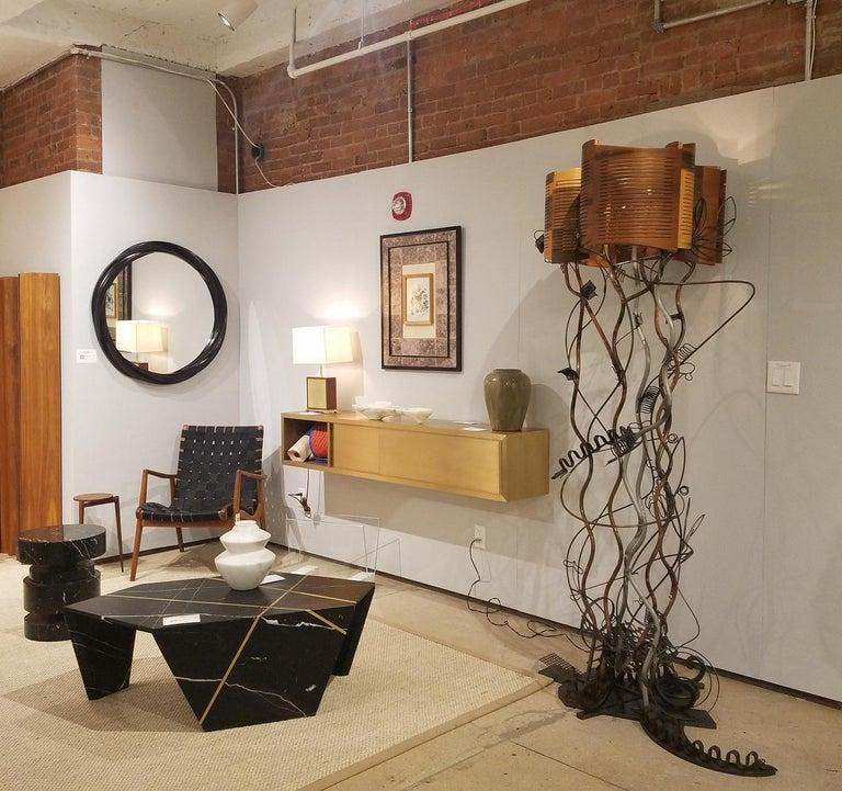 Welded Baroque Grunge Garden Floor Lamp by Aswoon/Susan Woods For Sale