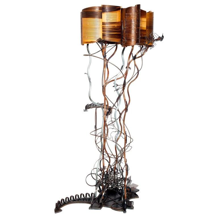 Baroque Grunge Garden Floor Lamp by Aswoon/Susan Woods For Sale