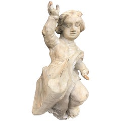 Baroque Hand Carved Putto, Ecclesiastical Corbel Angel Bavarian, Germany
