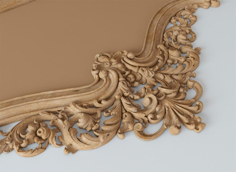 Woodwork Baroque Headboard for Bed from Oak or Beech For Sale