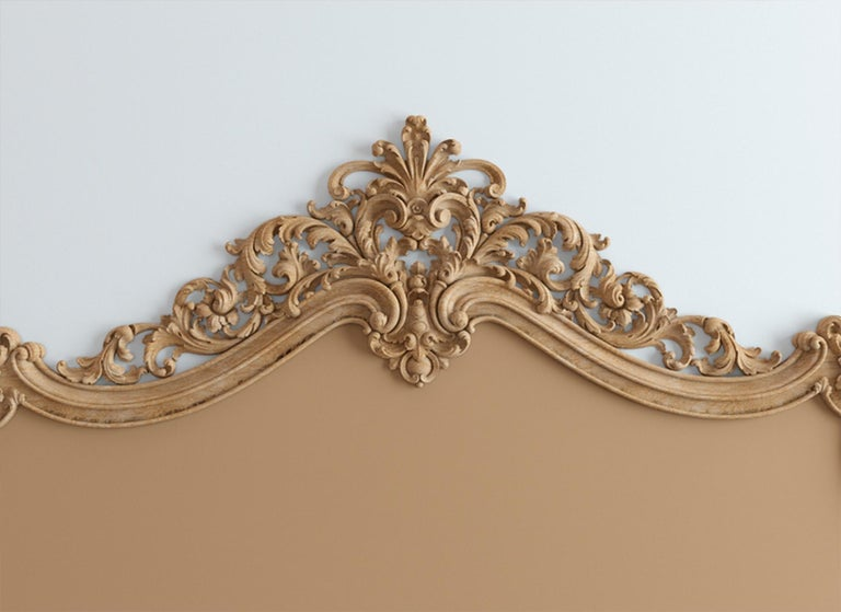 Baroque Headboard for Bed from Oak or Beech In New Condition For Sale In St Petersburg, St Petersburg