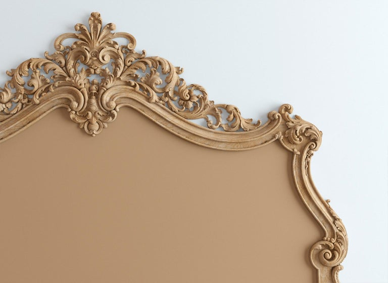 Contemporary Baroque Headboard for Bed from Oak or Beech For Sale