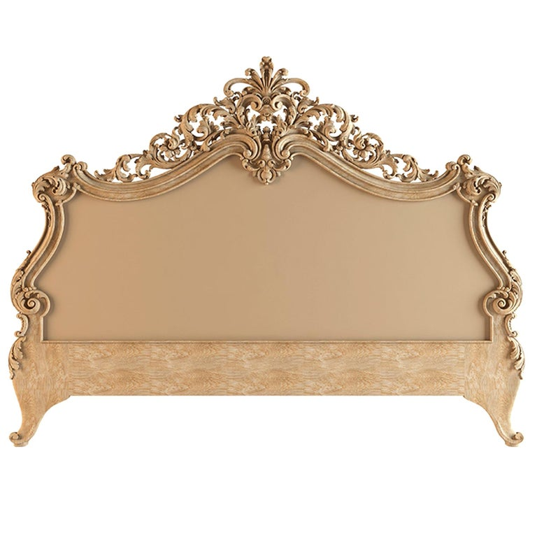 Baroque Headboard for Bed from Oak or Beech For Sale