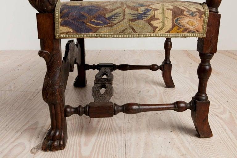 Baroque Historic Revival Armchairs, Origin Sweden, circa 1890 For Sale 3