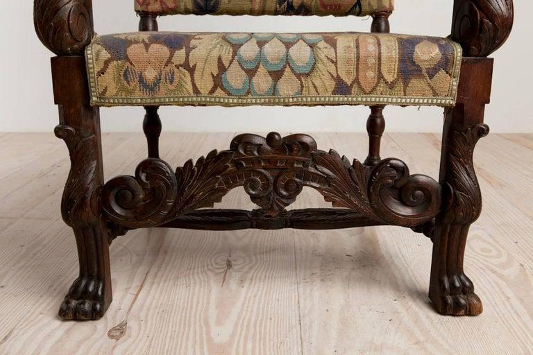Baroque Historic Revival Armchairs, Origin Sweden, circa 1890 For Sale 1
