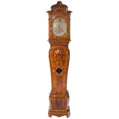 Baroque Longcase Clock, J. C. Felsz, Saxony, Second Half 18th Century