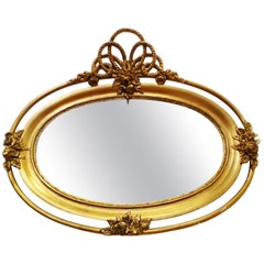 Baroque Mirror Oval Gilded