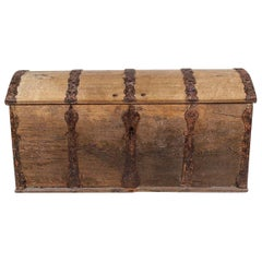 Baroque Oak Chest from the Mid-18th Century