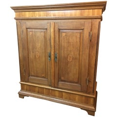 Baroque Ornamental Cabinet in Oak Wood from Germany