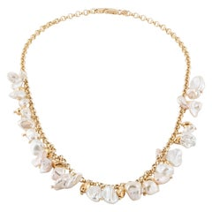 Baroque Pearl Necklace in 18 Karat Yellow Gold