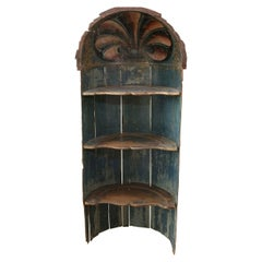 Baroque Period Niche Painted in Dark Blue