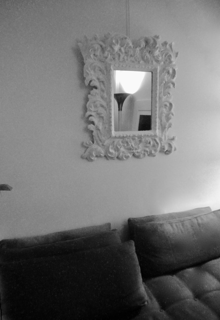 French Baroque Plaster Mirror in the Style of Serge Roche, France, 1950 For Sale