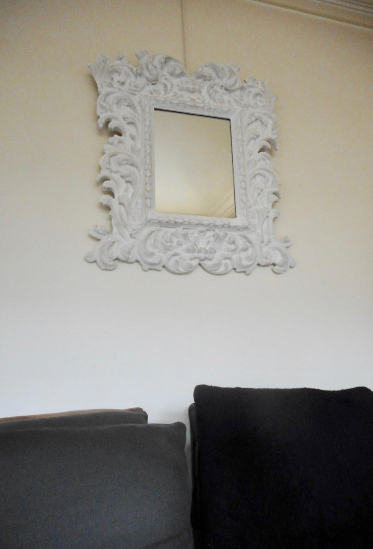 Baroque Plaster Mirror in the Style of Serge Roche, France, 1950 For Sale 2