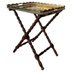 Baroque Revival Table with Removable Brass Tray, France, circa 1940