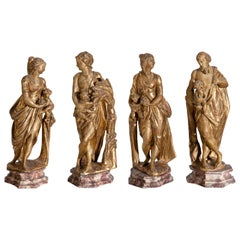 Baroque Sculptures, Four Seasons, Southern Germany, 18th Century