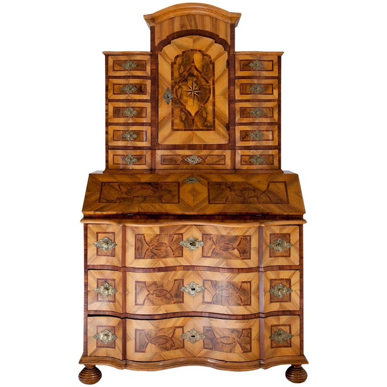 Baroque Secretaire, Central Germany 18th Century  For Sale