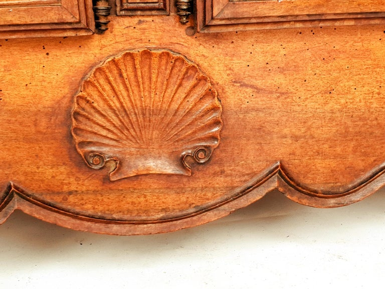 Walnut Baroque Sideboard, Provence, 1730s For Sale