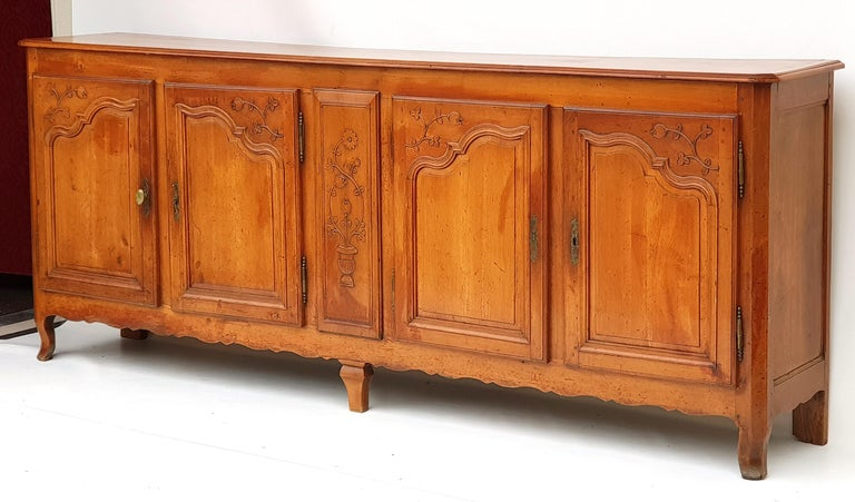 Cherry Baroque Sideboard, Provence, France, 1780s For Sale