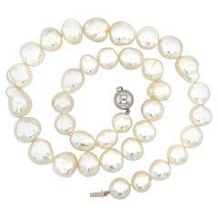 Baroque South Sea Pearl 18 Carat White Gold Necklace